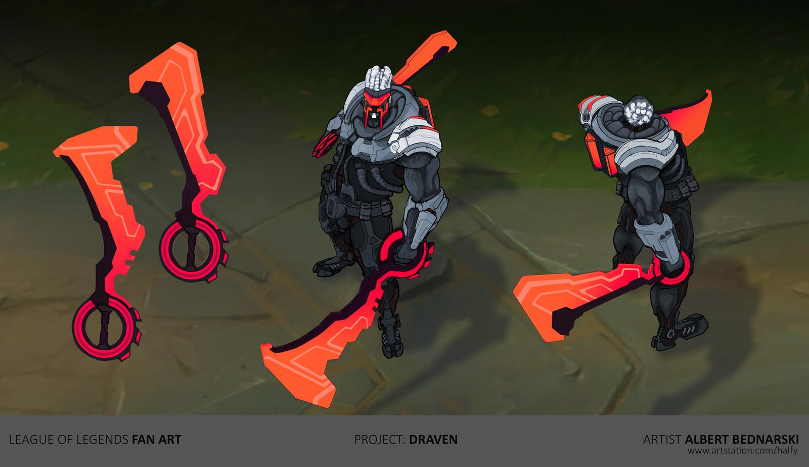 PROJECT: Draven | League of Legends | fan skin concept