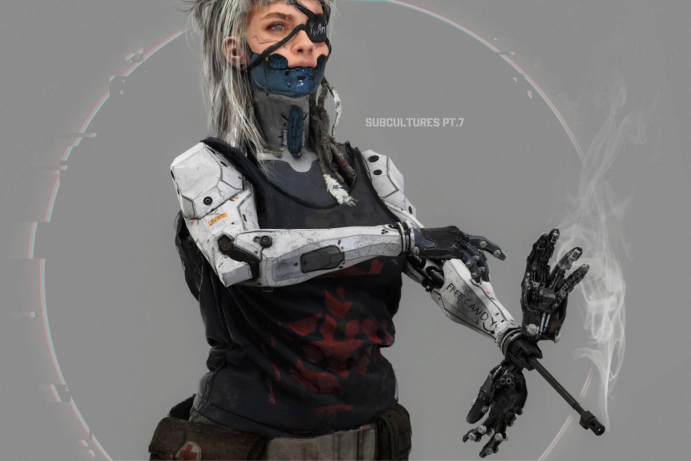 Cyborg Huntress