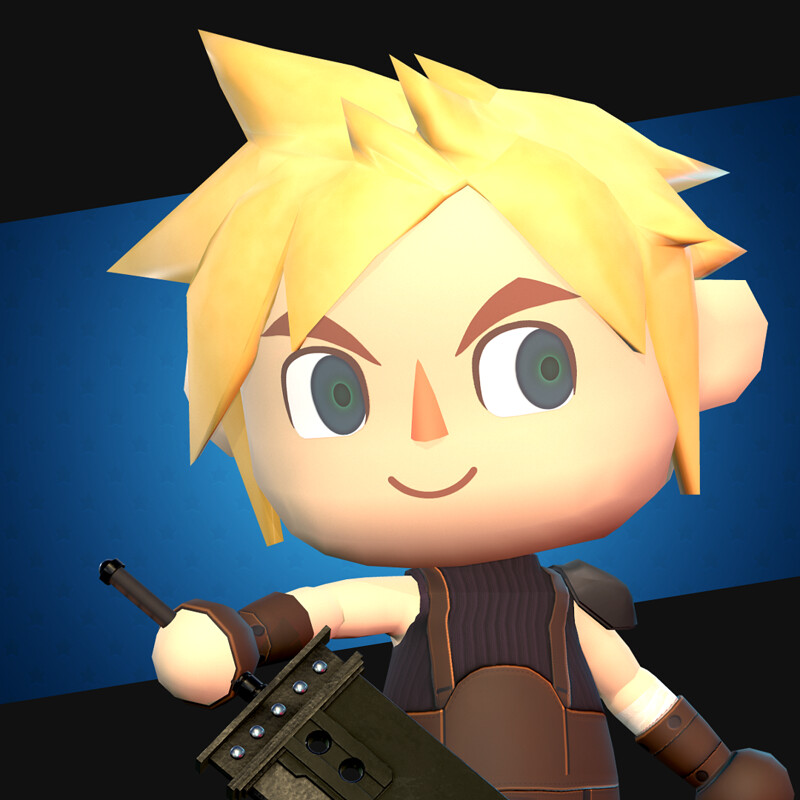 Villager Cloud | AC:NH x FFVII