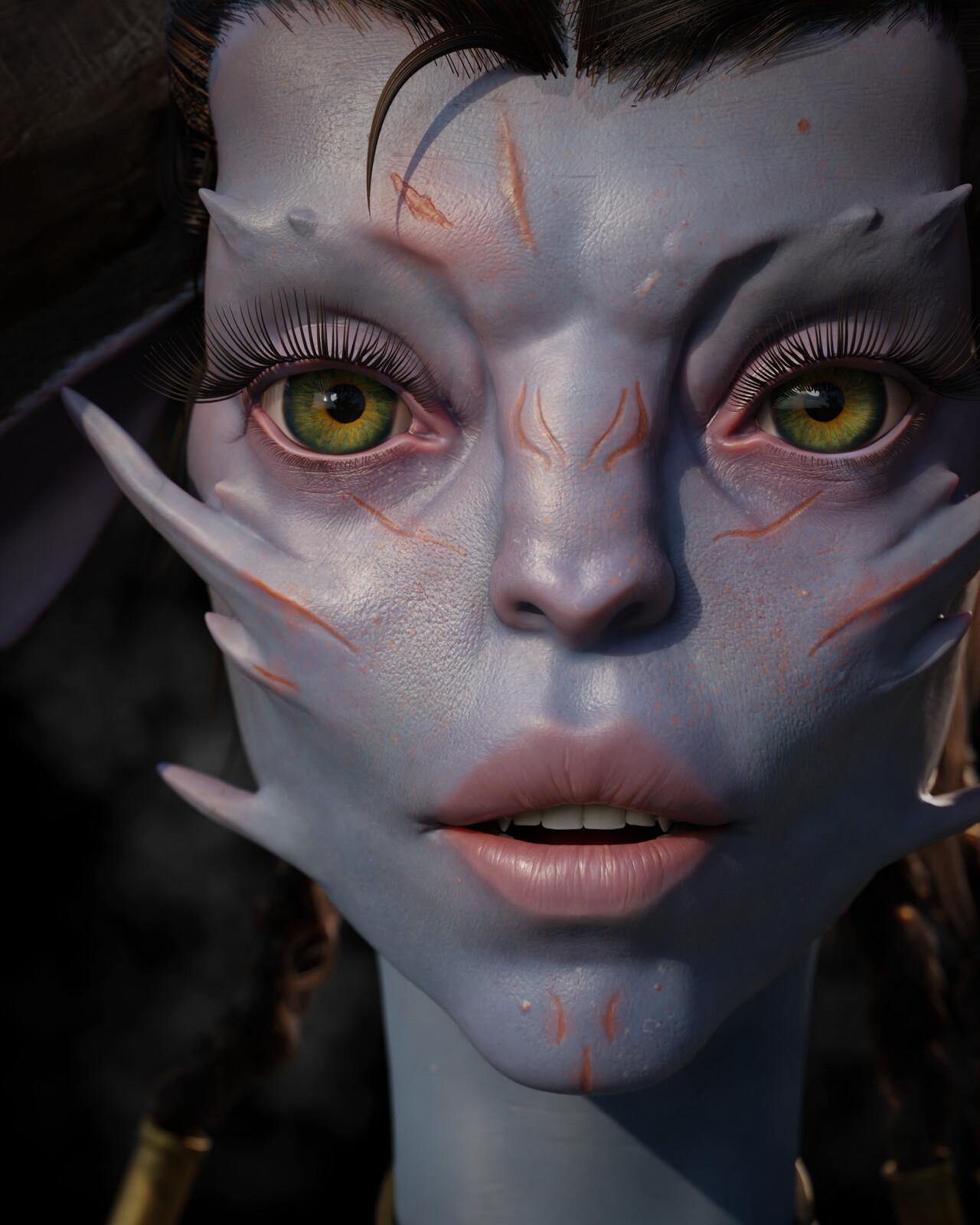 Female Alien Creature Bust