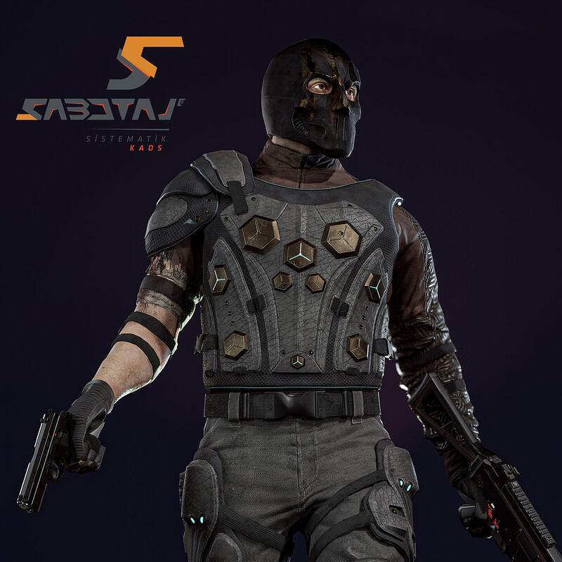 William Character Art for Sabotaj (Sabotage) MMO FPS Game