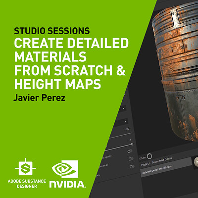 NVIDIA| Create Detailed Materials From Scratch & Height Maps