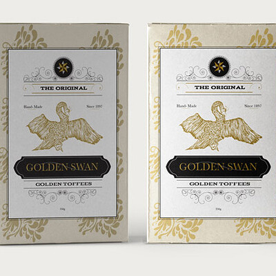 Golden Swan Toffee Box