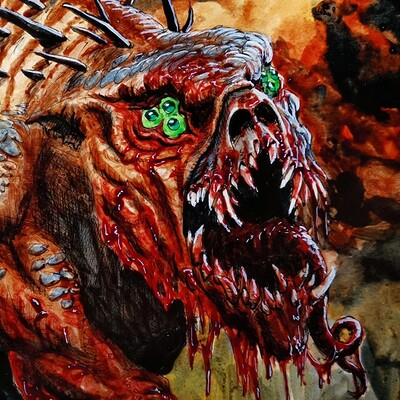 Jurij mikuletic inktober goretober 2020 14 monster form