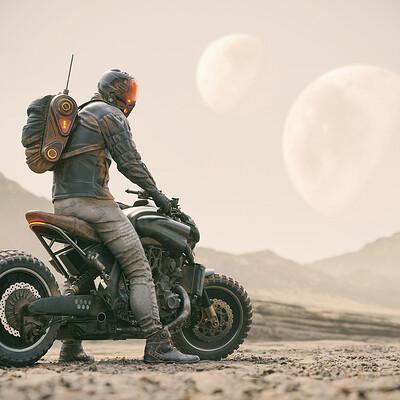 Paul braddock paul braddock dystopian rider as