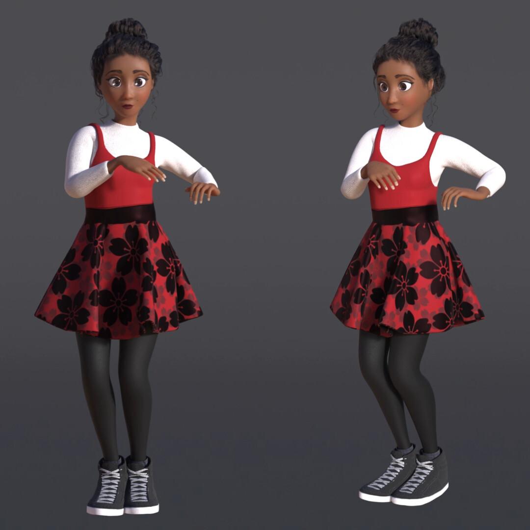 Elena Dance - Cloth Simulation