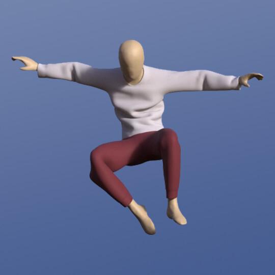 Male Cloth Simulations