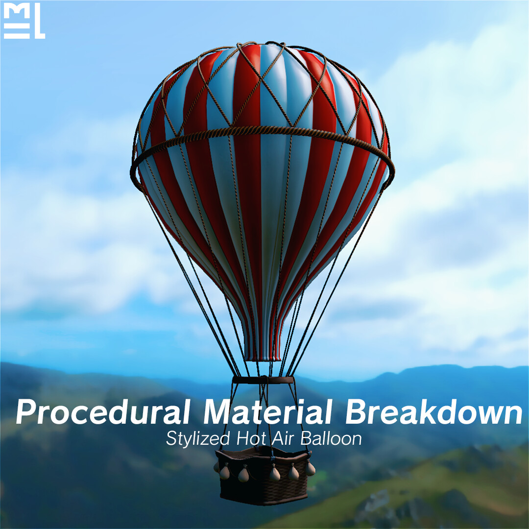 Third Year Animated Short 'A Story Over Clouds' - Balloon Prop Procedural Material Breakdown