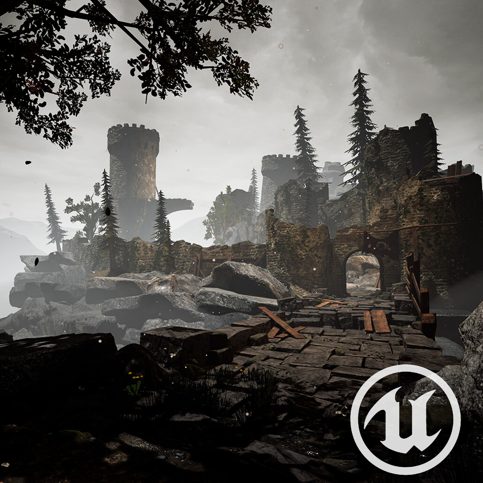 The Ruined Castle -UE4 Environment