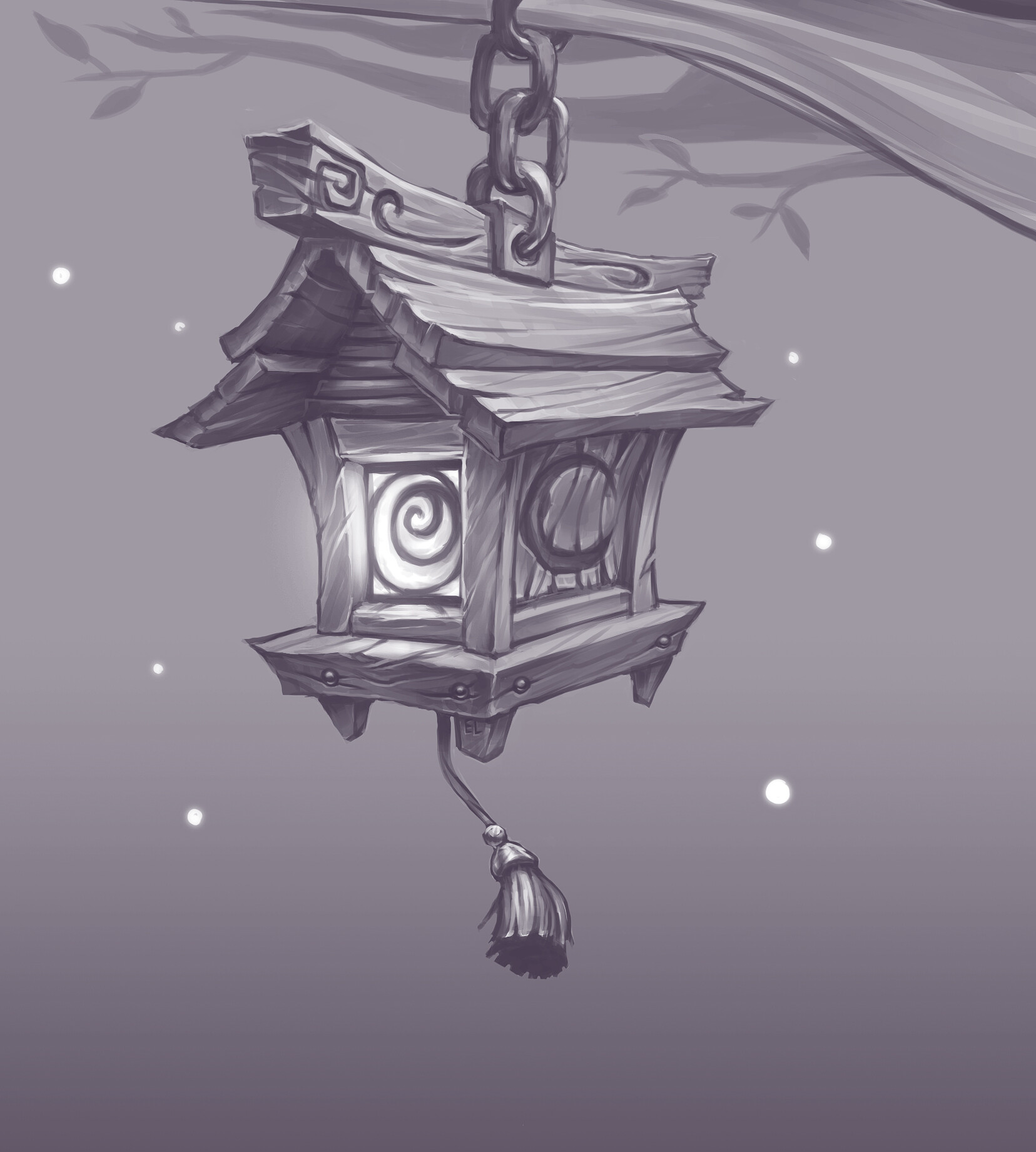 WoW Fan Concept: Night Elf Lantern