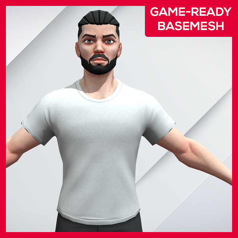 Stylized Low Poly Male Character - Game Ready - Kiroh