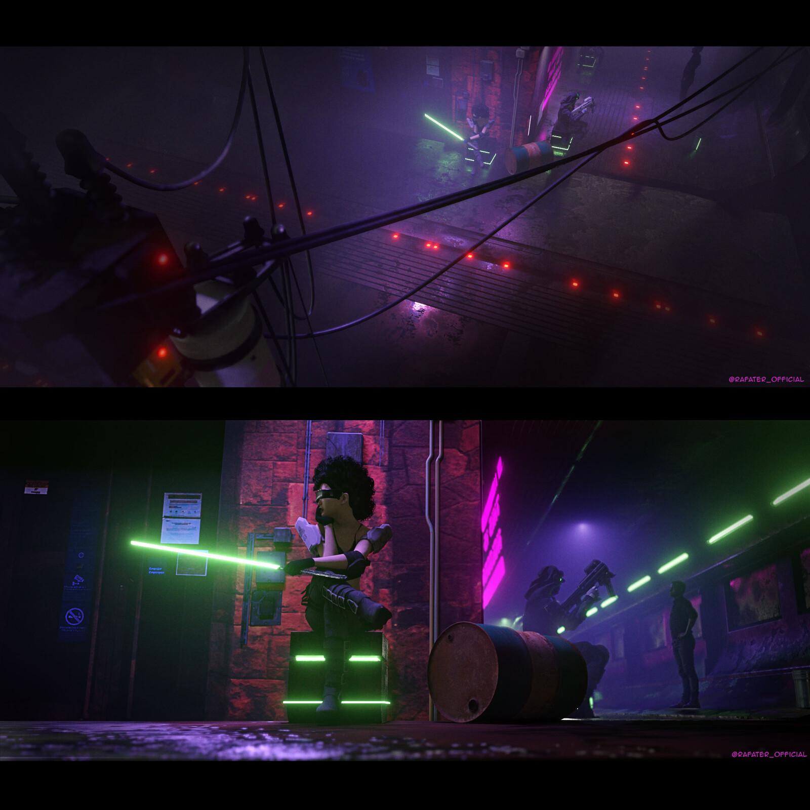 Cyberpunk district