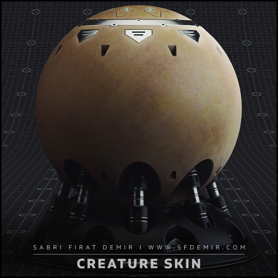Realistic Creature Skin Test Smart Material