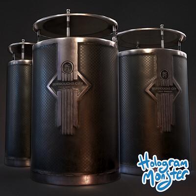 Hologram monster studio hologram monster studio bin icon