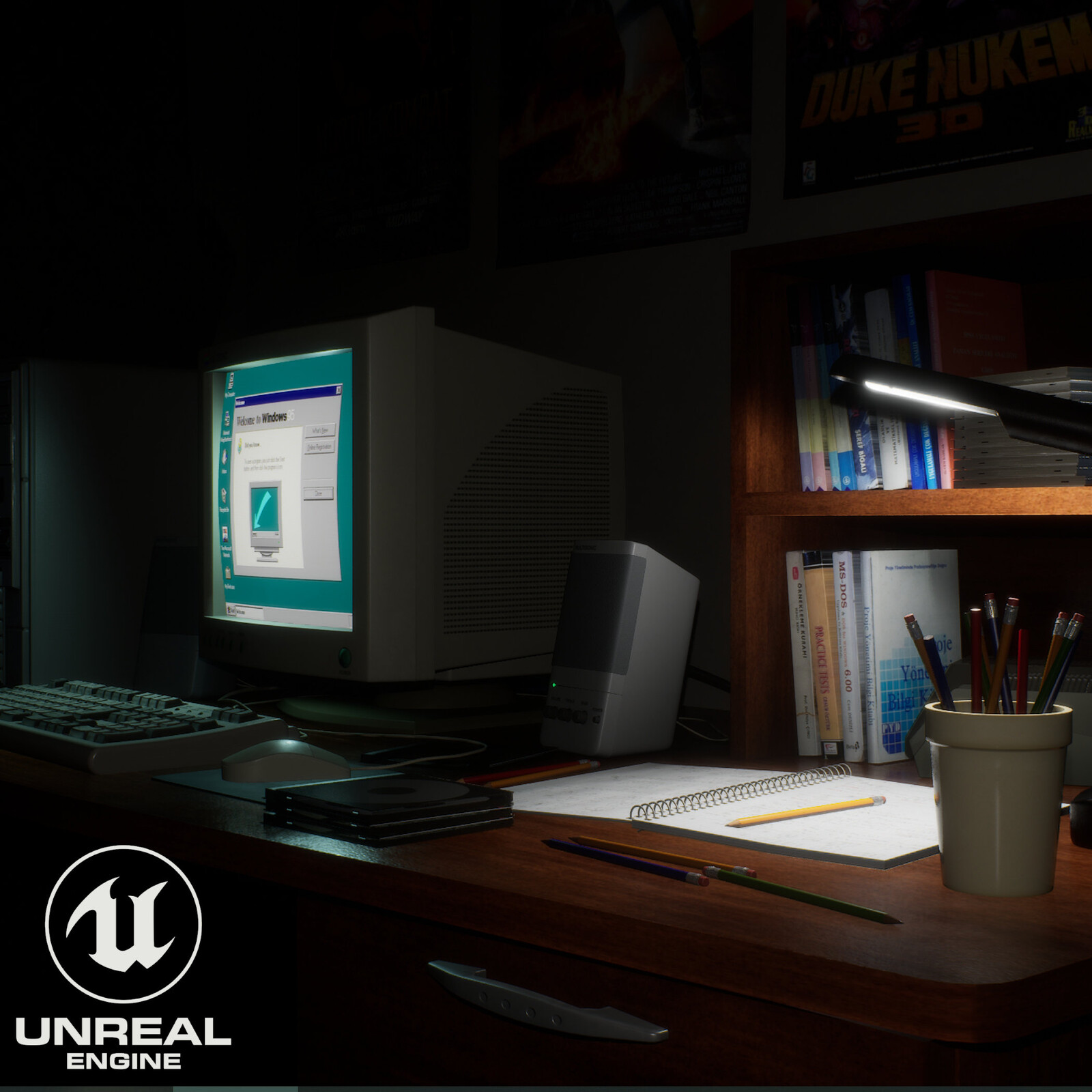 Scene from 90s - Unreal Engine Version