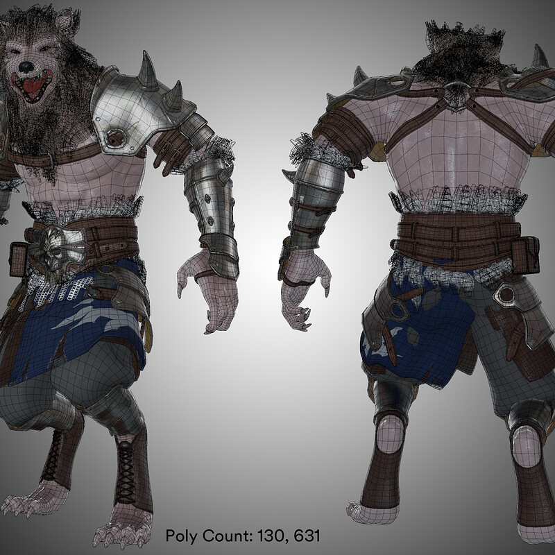 Werewolf: Rigging, Animation, Gameplay Test