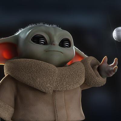 Grogu (Baby Yoda) study