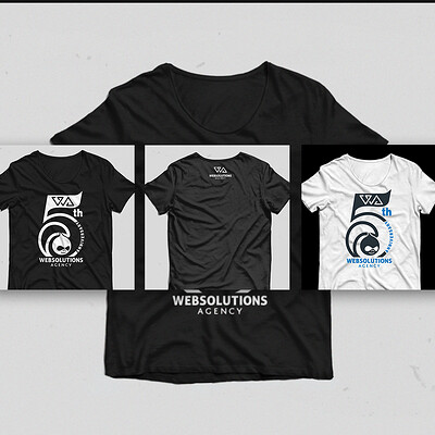 T-shirts design for 5th company anniversary V1