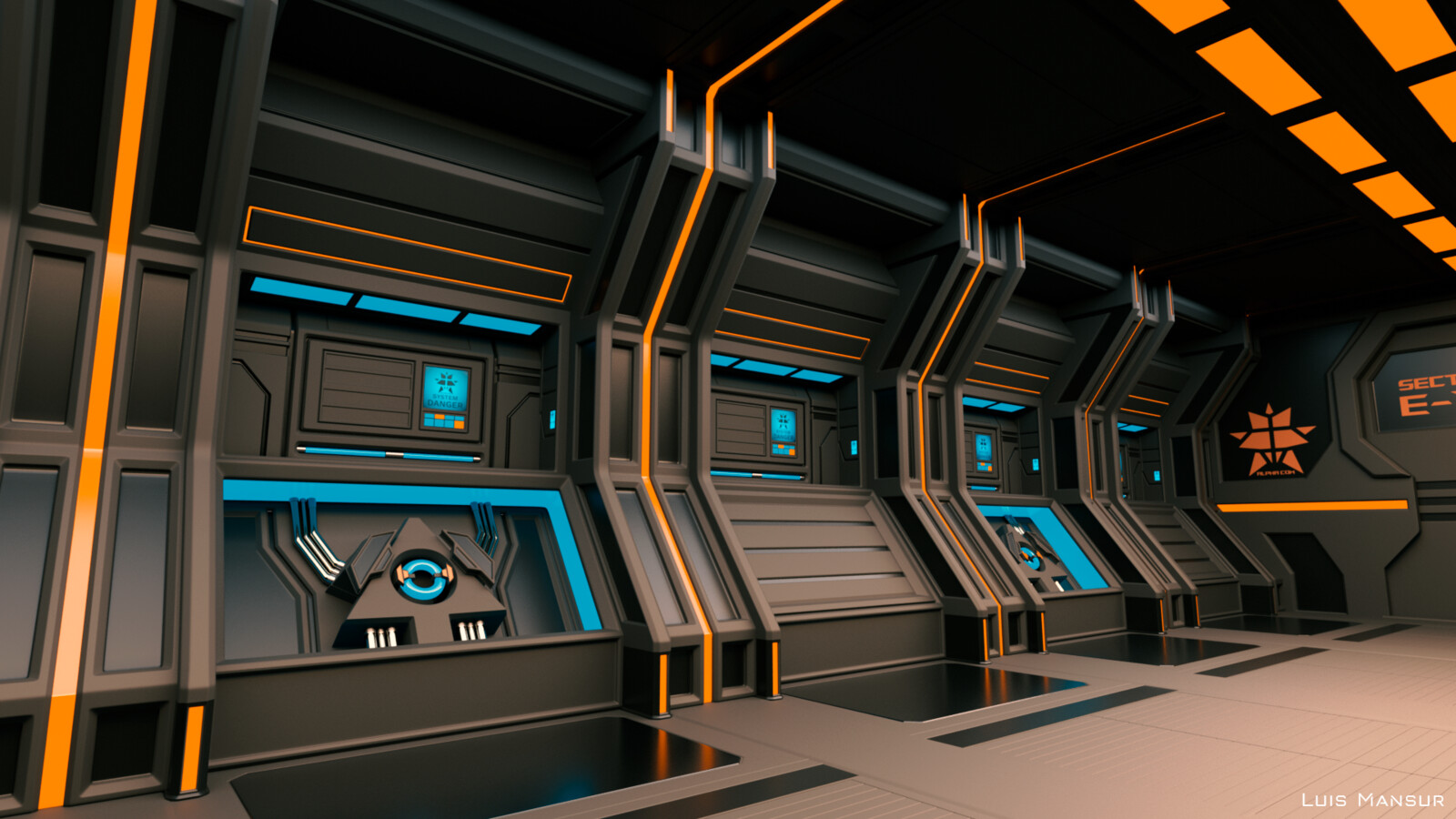 Clean Sci-Fi Modular Tunnel
