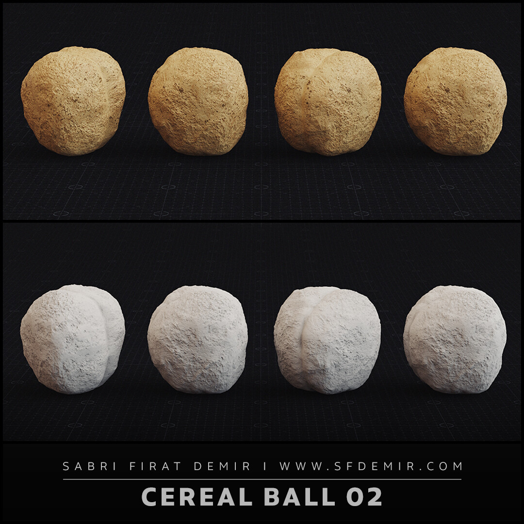 Cereal Ball 3D Model & PBR Textures