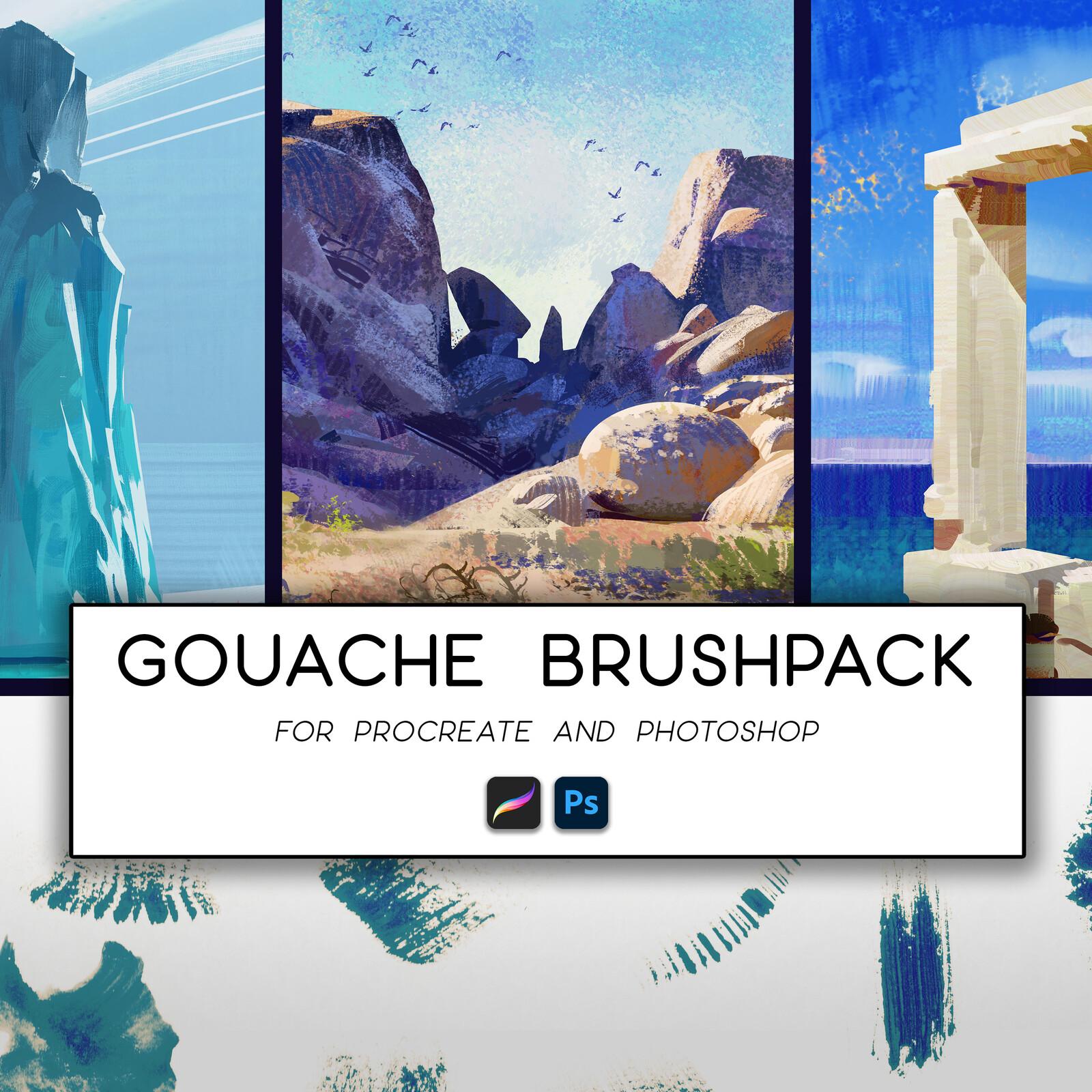 Gouache Brush Pack Artwork