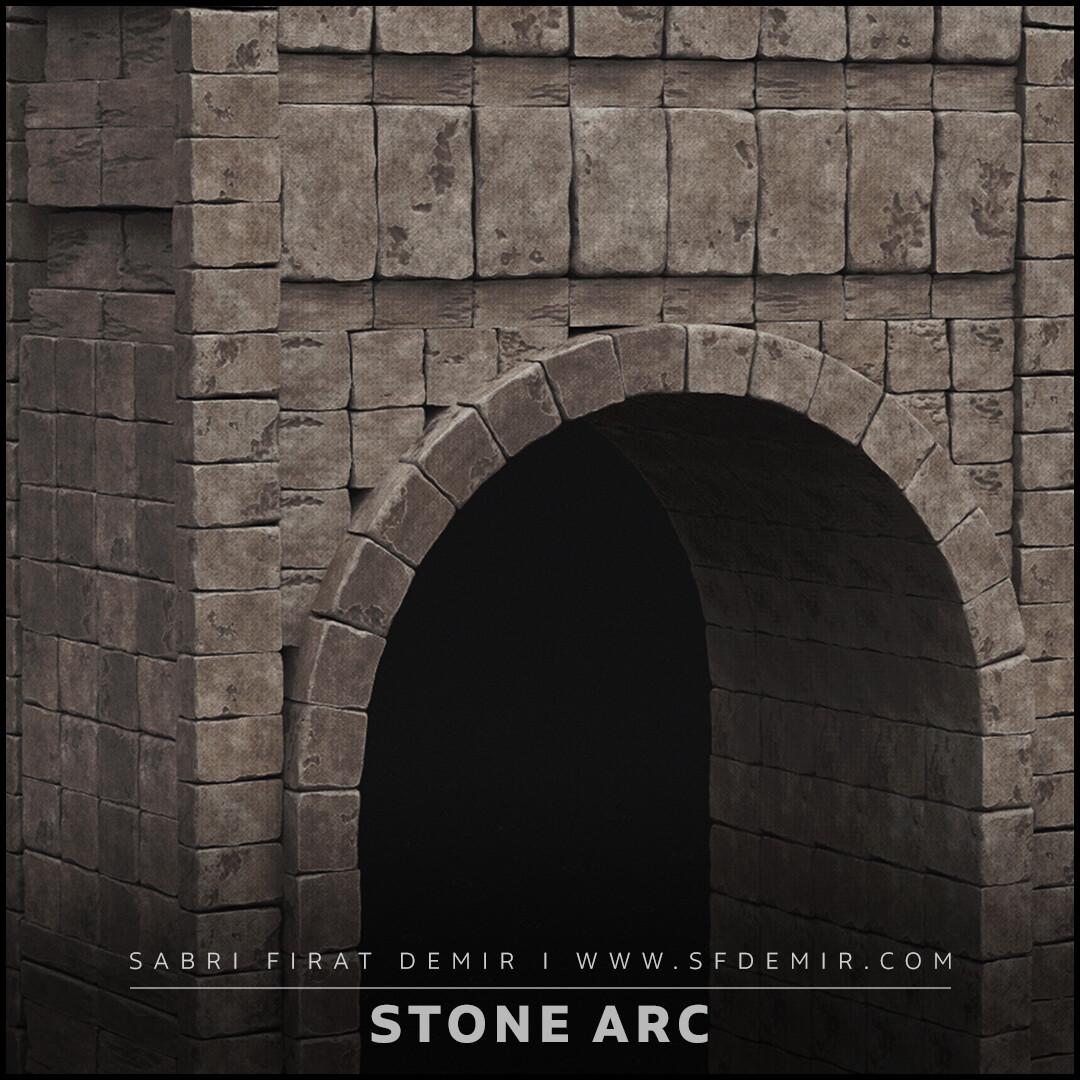 Stone Arc 3D Model / PBR Texture
