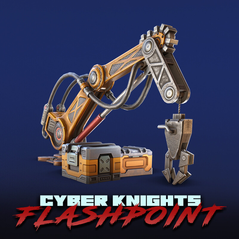 Cyber Knights: Flashpoint - Industrial props