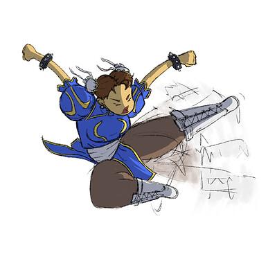 Joshua condison joshua condison chun li kick blue