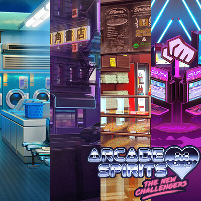 Arcade Spirits: The New Challengers backgrounds