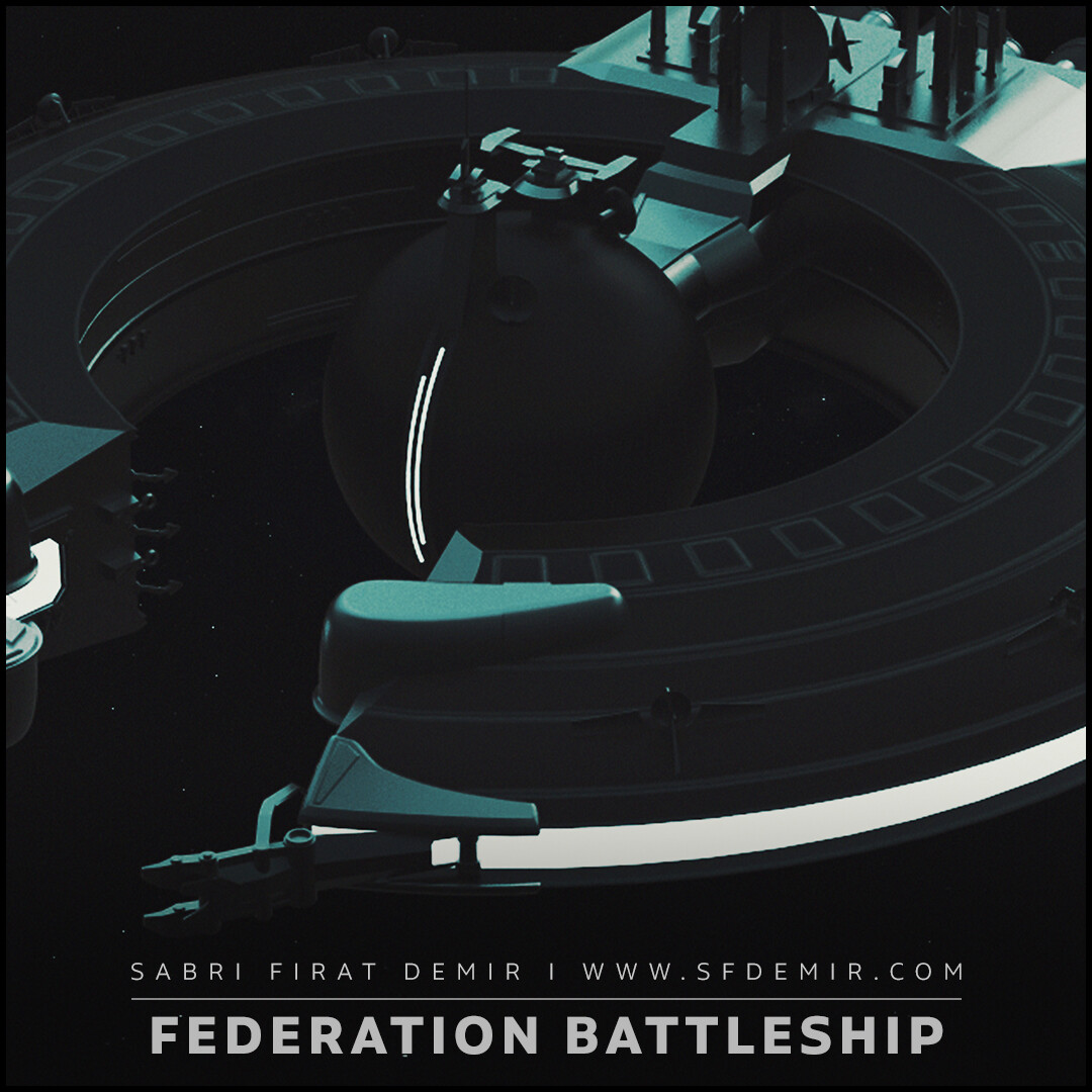 Trade Federation Battleship - Render Scene