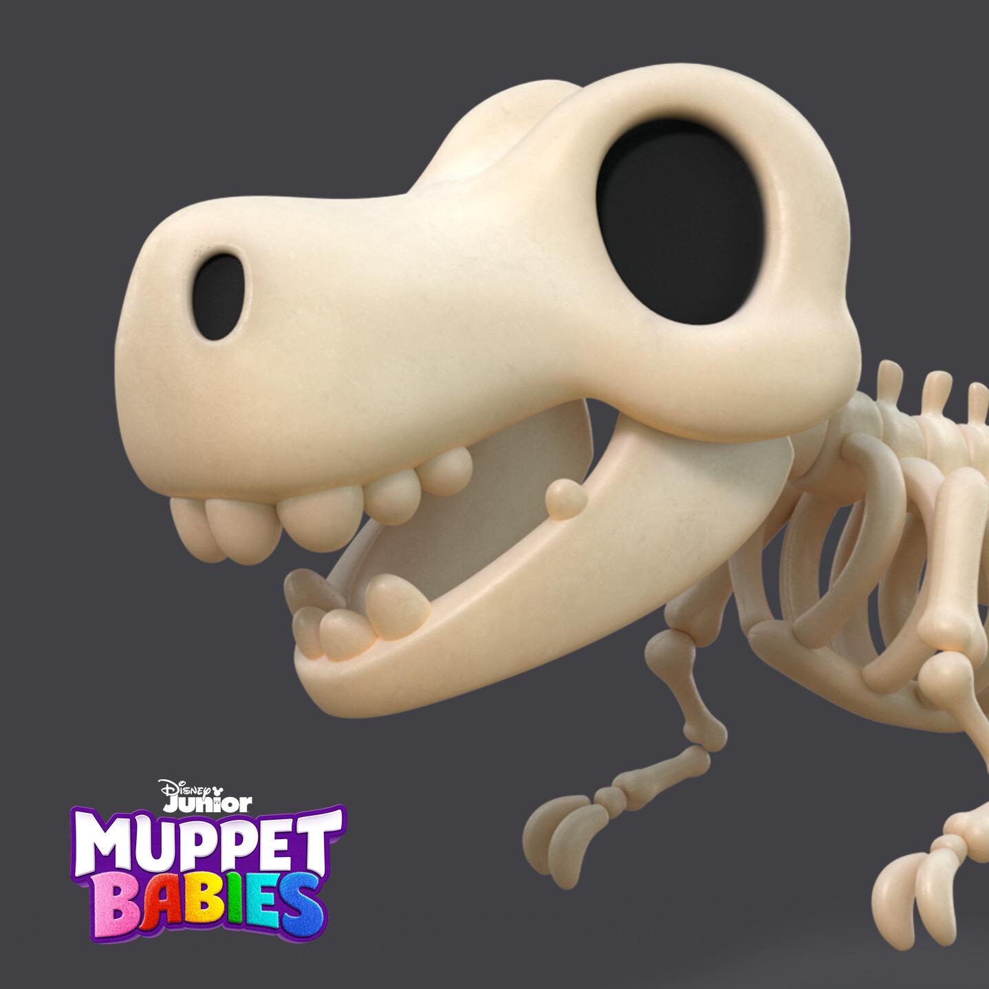 Muppet Babies - T-Rex Skeleton
