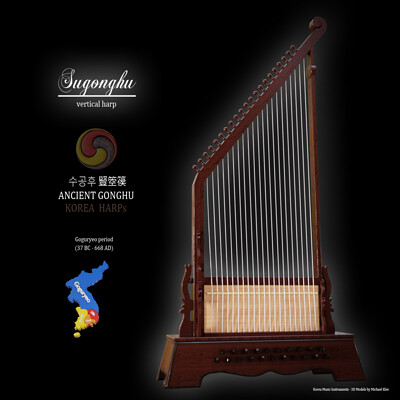 Michael klee michael klee sugonghu korea harp 3d model by michael klee