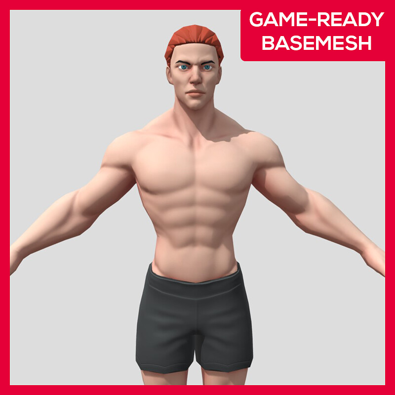 Stylized Character - Male Basemesh Game-ready