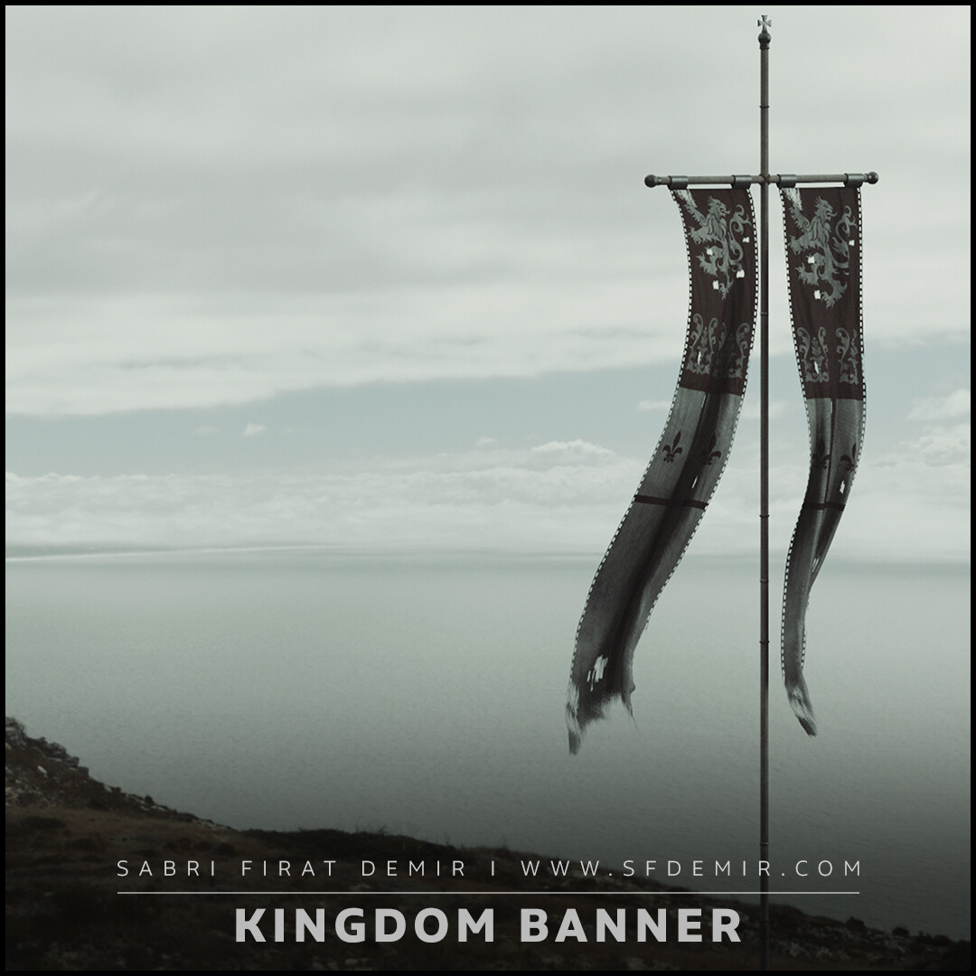 Kingdom Banner - Low Polygon PBR Texture
