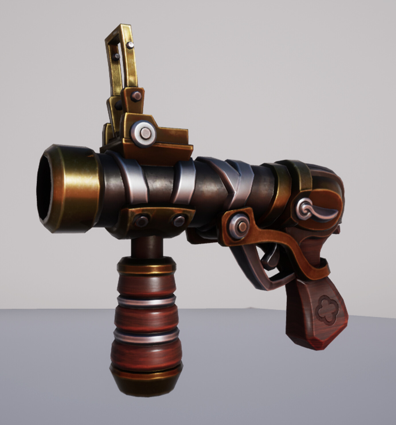 Stylized Steampunk Grenade Launcher Thingy