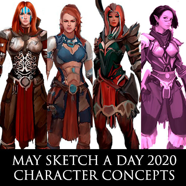 May Sketch a Day Character Concepts