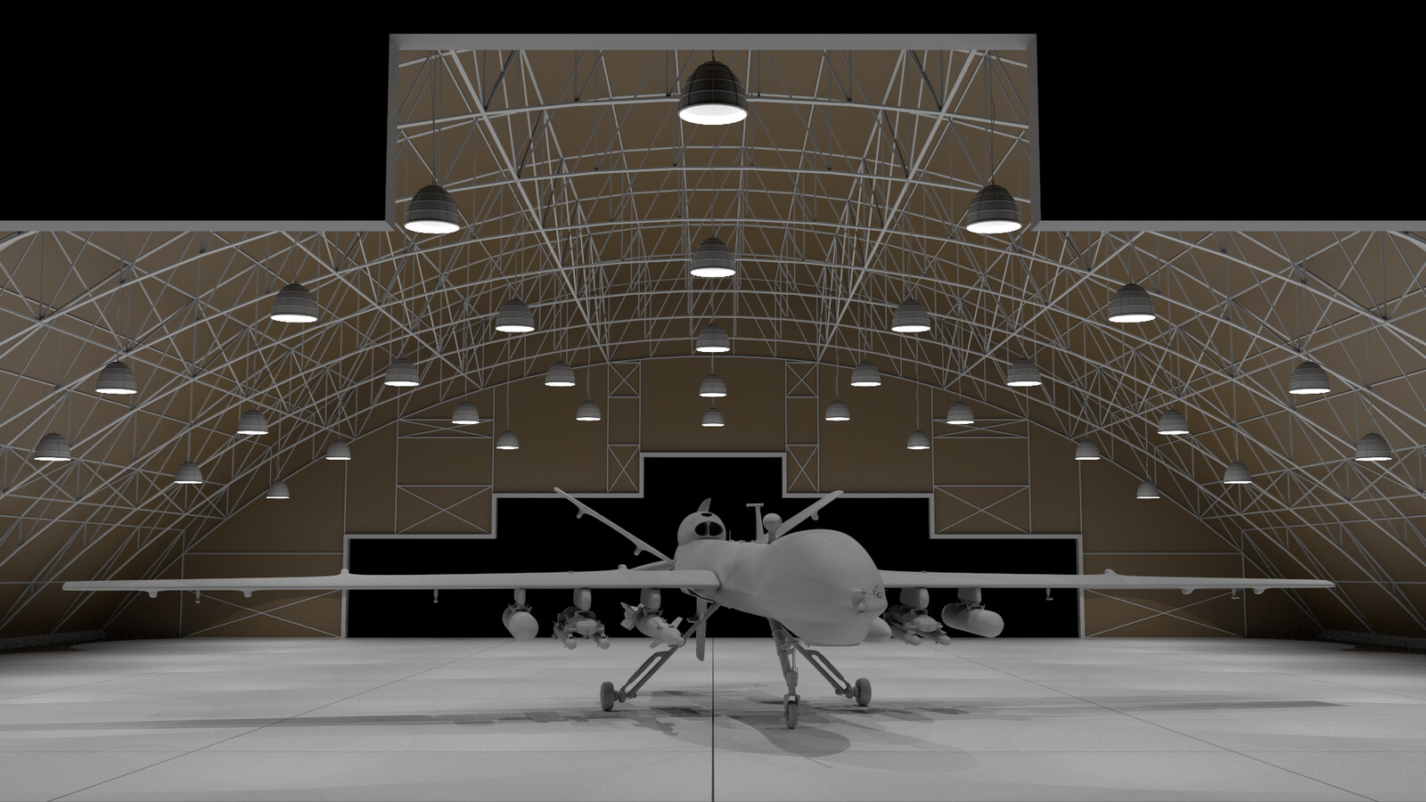 Procedural Modelling: Hangar Building