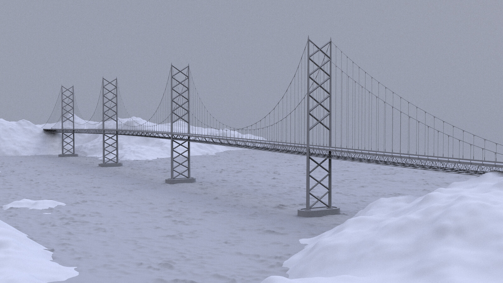 Procedural Modelling: Suspension Bridge