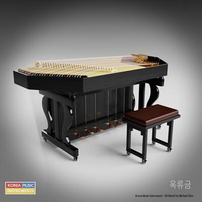 Michael klee michael klee okryugeum korea music instrument 3d model by michael klee