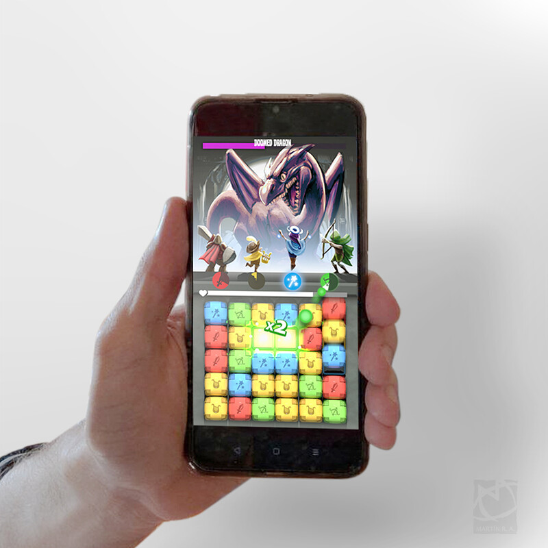 Quick game mobile mockup