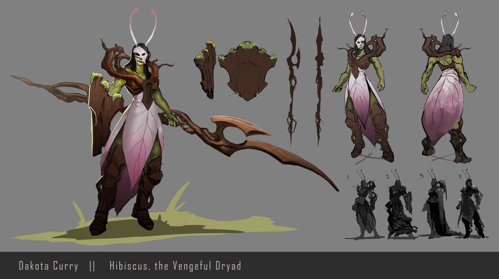 Hibiscus, the Vengeful Dryad