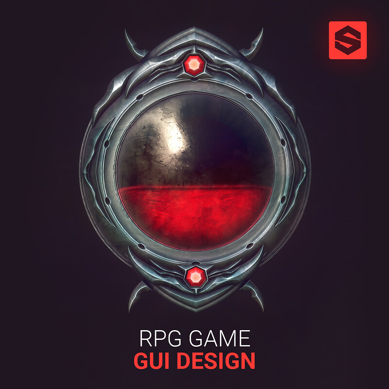 "(GUI Game Design) in Substance Designer | ""Procedural"" GUI 
