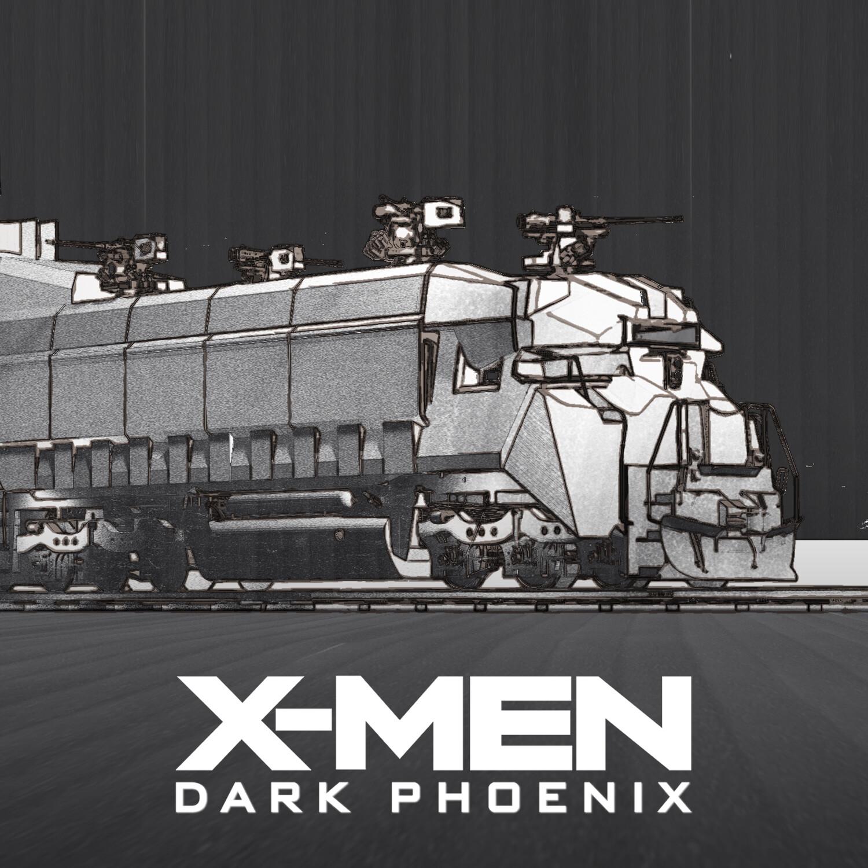 X-Men Dark Phoenix: Armored Train Sketches