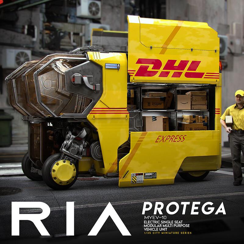 Vehicle Concept - PROTEGA - RIA, DHL Skin