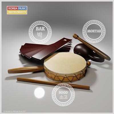 Michael klee michael klee bak sogo moktak korea drums percussions 3d models by michael klee