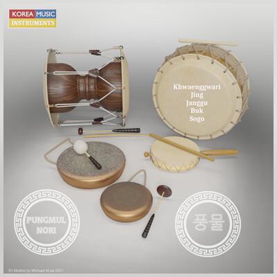 Michael klee michael klee pungmul nori korea drum ensemble 3d models by michael klee