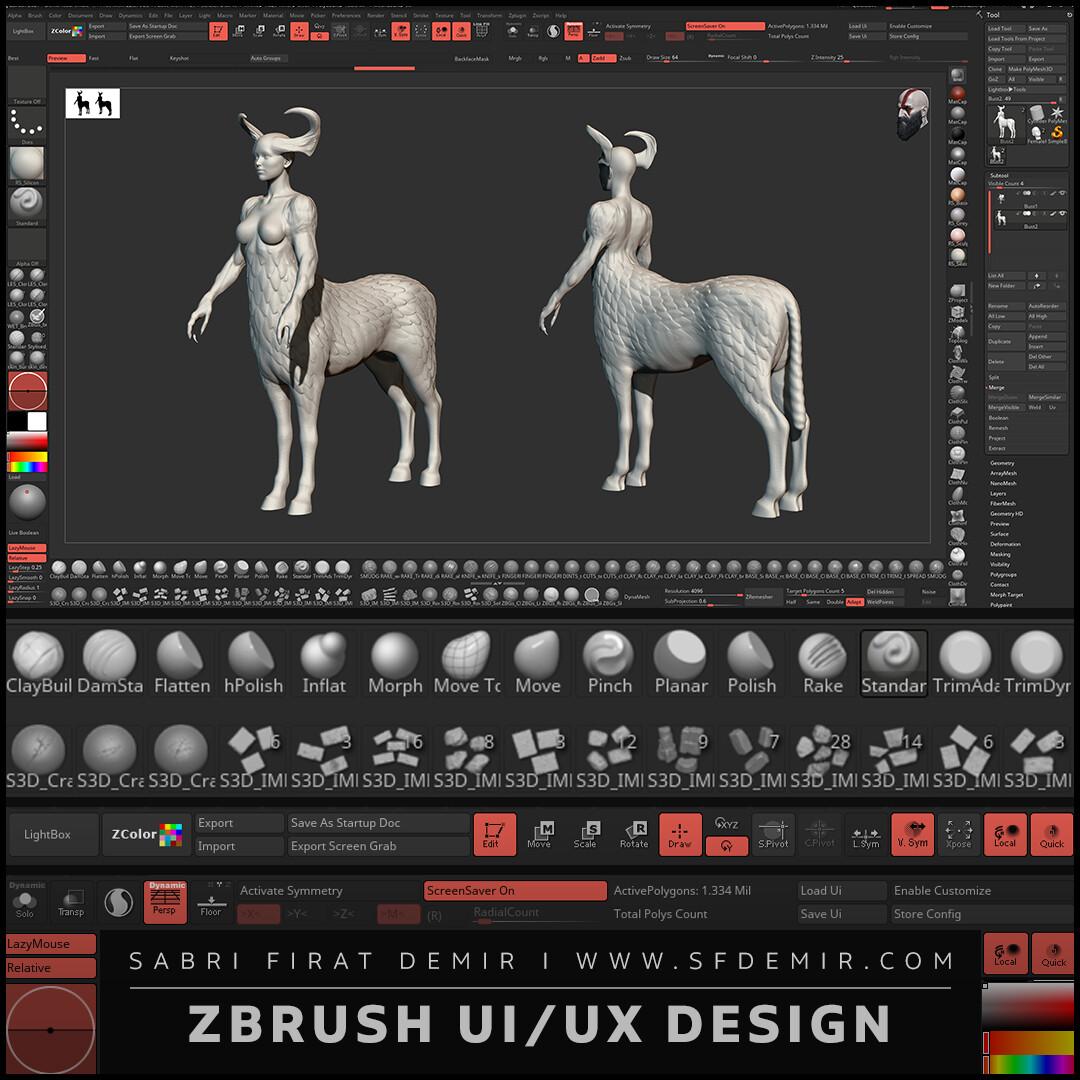ZBrush UI UX Design - SFDEMIR