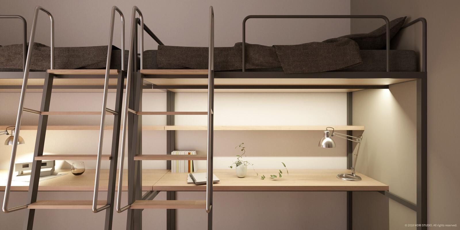 Portfolio | FCU Dormitory / Room Space, 2020