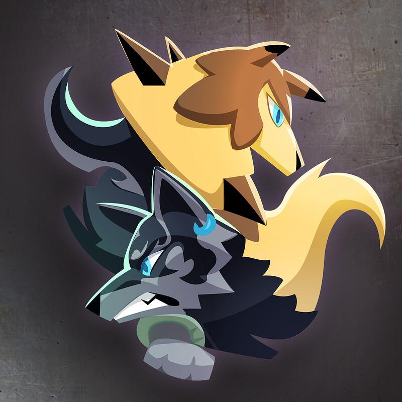 Wolves logo commission