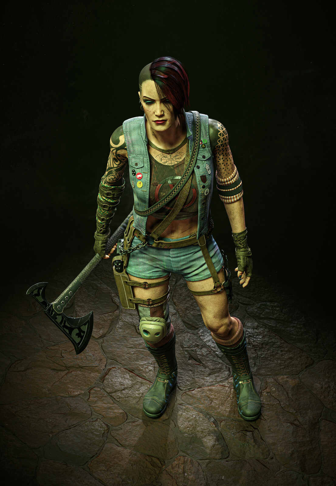 Aurora Character Art for SABOTAJ MMO FPS Game